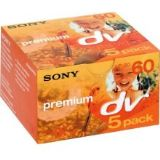 Sony MiniDV Premium Tape - 60 minute length 5 pack (mini dv)